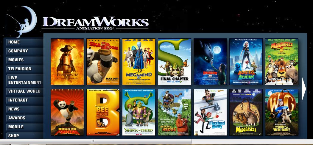 Dreamworks movie list