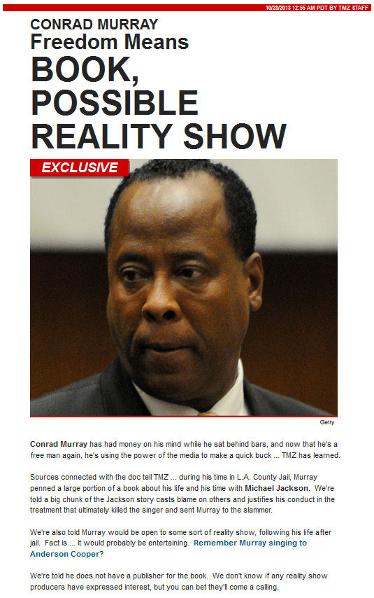 Conrad Murray Reality Show