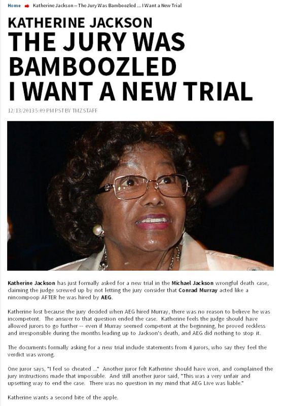 Katherine Jackson New trial